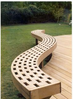 Photos from The Owner-Builder Network's post - The Owner-Builder Network Deck Bench Seating, Curved Bench, Curved Pergola, Metal Pergola, Diy Pergola, Pergola Ideas, Wood Benches, Outdoor Benches, Pergola Roof