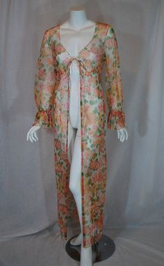 1970s Vanity Fair Sheer Robe