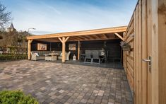 Overkapping Echteld Backyard Pavilion, Backyard Patio Designs, Backyard Landscaping, Backyard Decorations, Outdoor Pergola, Outdoor Rooms, Outdoor Living, Outdoor Decor, Wooden Gazebo