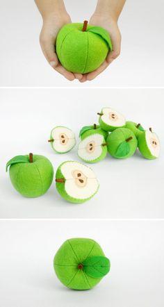 Juguetes todo de manzana y mitad juguetes orgánicos para bebé Waldorf juguetes niño regalo para bebé niño juguetes bebé regalo eco amigable Natural juguete del bebé