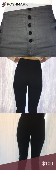 "J brand high waisted jeans NWOT. ""J brand Natasha sky high skinny color seriously black ""NWOT. Never been worn. Black high rise full length size 25.  43%viscose 33%cotton 17%lyocell NEVER BEEN WORN J Brand Jeans Skinny"