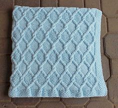 Ravelry: Diamond Cable Travel Blanket pattern by Nancy Hearne