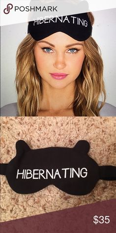 "Wildfox ""hibernating"" sleeping mask Blacks out all light, little kitty ears on top. Stretch fit Wildfox Intimates & Sleepwear"
