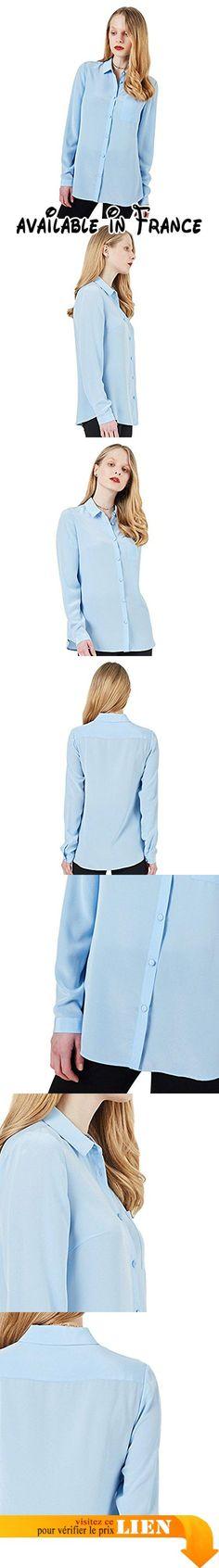 B07218TBL5 : COLD POSH Marque 100% soie chemise femme poche de chemise lâche chemise à manches longues bleu ciel chemise mode chemise unilatérale (L). bleu ciel adapté à une variété d'occasions frais et élégant.. À manches longues poches unilatérales revers sont des éléments de conception les plus populaires.. un matériau 100% soie en augmentant les vêtements de douceur et de confort.. Peut être utilisé avec différentes couleurs de vêtements à porter