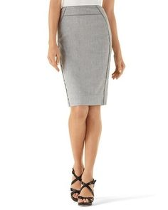 White House | Black Market Gray Suit Skirt