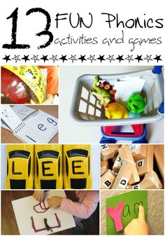These 13 fun phonics games and activities will keep your kids having fun as they're learning to read!