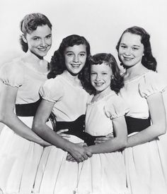 The Lennon Sisters, Diane, Kathy, Janet & Peggy