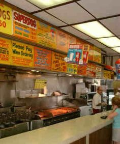 """The """"O""""- Original Hot Dog Shop- Pittsburgh, PA. A LARGE fry can feed 5 or more people"""