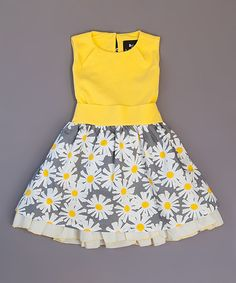 Another great find on #zulily! Yellow Veronica Ramblas Dress - Toddler & Girls by Llum #zulilyfinds