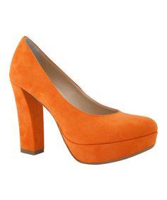 Luciano Migliore Orange Suede Pump | zulily