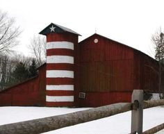 Patriotic silo...want this in my yard by Aleisharmoore