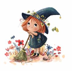 Ready to do some plant magic! Art And Illustration, Character Illustration, Elephant Illustration, Building Illustration, Character Sketches, Art Illustrations, Character Ideas, Girl Cartoon, Cute Cartoon