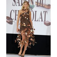 Former Miss France Alexandra Rosenfeld, dressed by Lindt and Isabelle Teste at The 16th Salon du Chocolat in Paris