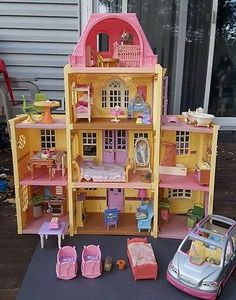 Fisher Price Loving Family Twin Time Grand Mansion Dollhouse Furniture Accs. Lot