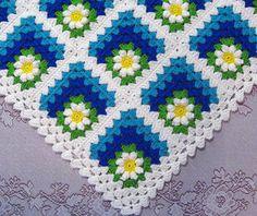 Modello PDF maglia Baby Daisy estate afghana, sgolato Baby coperta afgana Pattern