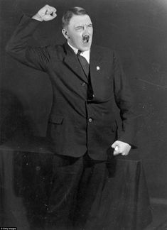 Newly released photographs taken in 1925 by photographer Heinrich Hoffman show Adolph Hilter rehearsing his speeches | Images of Hitler show the dictator rehearsing his public speeches at the start of his political career