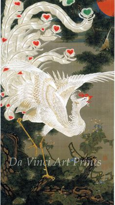 Japanese Art Fine Art Reproduction Phoenix and by DaVinciArtPrints, $13.99 - I really love Japanese phoenixes. Would love a tattoo of one. How about the print for now?