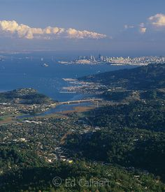 Mill Valley, Sausalito, San Francisco, from Mount Tamalpais, Marin County, California by Edgar Callaert