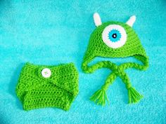 Monsters inc hat and diaper cover you pick the by conniemariepfost, $45.00