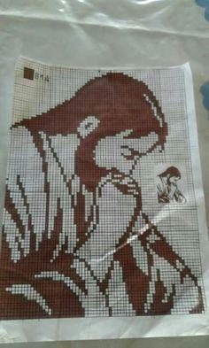 Cross Stitch Embroidery, Embroidery Patterns, Hand Embroidery, Knitting Patterns, Cross Stitch Borders, Cross Stitch Flowers, Cross Stitch Patterns, Fillet Crochet, Manta Crochet