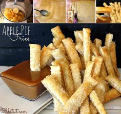 Apple Pie Fries Recipe - OMG! YUMMO! Nom nom nom! http://diycozyhome.com/apple-pie-fries-recipe/