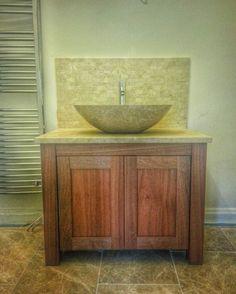 En suite vanity unit in solid Sapele by jdwoodwork.co.uk Woodworking, Vanity Units, Sapele, Vanity, Ensuite, Suite, Custom Woodworking