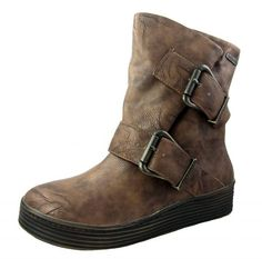 9134b040dd9f Blowfish Barnaby Whiskey Brown Wedge Ankle Boots