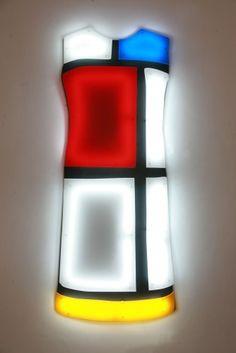 Nicolas Saint Grégoire  Mondrian Dress 1, 2009  Wall mounted light sculpture using cold cathode tube lighting and Perspex