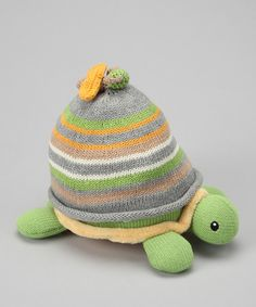 Beanie that fits on plush turtle's back, turtle makes a rattle sound!!!