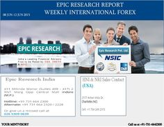 Epic Research Private Limited is the advisory firm awarded with the Service Excellence Award. The company is headquartered in Indore, India whereas, offices and representatives are in U.S.A., Singapore, Malaysia and Middle East, We are delivering services in providing consultation regarding SGX Equities, SGX Derivatives (Futures and Options), Global Commodities (Bullion, Energy and Agri), Forex & IForex (Major currency pairs).