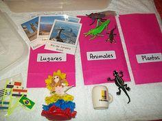 """Mi Escuelita Montessori: """"Bowls"""" de Continentes // Continents """"Bowls"""""""