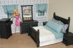 barbie furniture Barbie Doll House, Barbie Dream House, Barbie Dolls, Barbie Furniture, Dollhouse Furniture, Bedroom Furniture, Barbie Bedroom, Barbie Clothes, Barbie Stuff