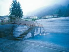 Built by Peter Zumthor in , Switzerland with date 1996. Images by Unknown photographer. Built over the only thermal springs in the Graubunden Canton in Switzerland, The Therme Vals is a hotel and spa in on...