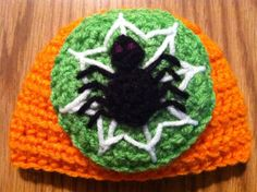 Spooky Spider Hat by erinshooknook on Etsy