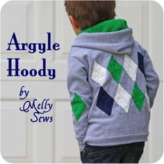 Melly Sews: Argyle Hoody Tutorial @Marie Erickson when you have a baby boy someday I want to make this for him in UNC colors. Just remind me.