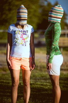 100% cotton handmade surf beanies #Zizterz #KnitZizterz #Surf #Beanie #Blonde #Sisters #SurfHat #Summer