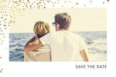 Prévenez vos proches de la date tant attendue de votre union avec notre Save the Date Étincelles (dorure). #etincelles #dorure #savethedate