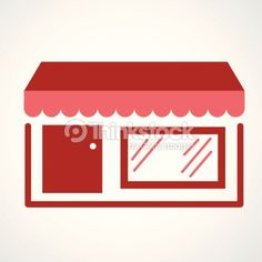Arte vetorial : A vector design of a storefront