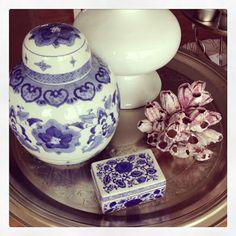 Flair vintage decor  Blue & White
