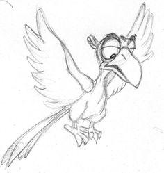 disney sketch - zazu from the lion king Cartoon Sketches, Disney Sketches, Disney Drawings, Cool Drawings, Drawing Sketches, Arte Disney, Disney Art, Character Drawing, Character Design
