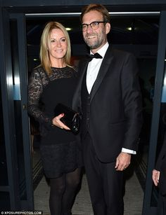 Liverpool boss Jurgen Klopp, with wife Ulla Sandrock, looked sharp in black tie and waistc. Liverpool Captain, Liverpool Football Club, Liverpool Fc, Football Team, Liverpool You'll Never Walk Alone, Juergen Klopp, James Milner, Looking Dapper, Knee Injury