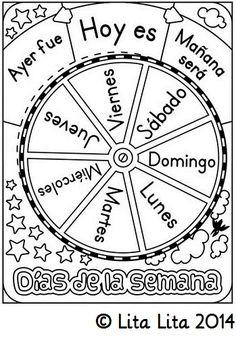 Days of the week Spanish wheel FREEBIE