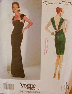 Cocktail or Evening Dress by Oscar de las Renta by patterntreasury