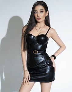 Uploaded by Turan. Find images and videos on We Heart It - the app to get lost in what you love. Black Leather Skirts, Leather Dresses, Leather Outfits, Sexy Outfits, Sexy Dresses, Fashion Outfits, Indian Wedding Outfits, Hot Dress, Leather Fashion