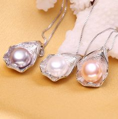 Silver necklaces FENASY charm Shell design Pearl Jewelry,Pearl Necklace sterling silver jewelry ,fashion necklaces for women 2018 new Pearl Pendant Necklace, Pearl Jewelry, Sterling Silver Necklaces, Pearl Necklaces, Shell Pendant, Swarovski, Necklace Types, Cultured Pearls, Fashion Necklace
