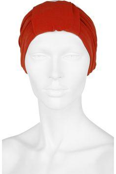 Lanvin|Crepe-jersey turban headband|NET-A-PORTER.COM