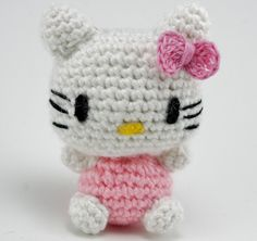 crochet thread amigurumi   Hello Kitty amigurumi for a friend