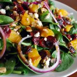 Mandarin Orange & Spinach Salad.