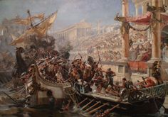 Mock naval battle in the Colosseum.