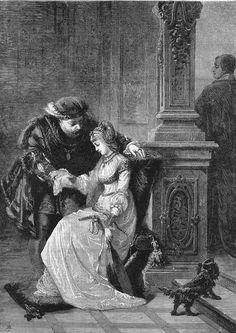 Henry VIII and Anne Boleyn | ROYALTY: Henry VIII.Anne Boleyn. Vintage Art Print.1880 | ... | Histo ...